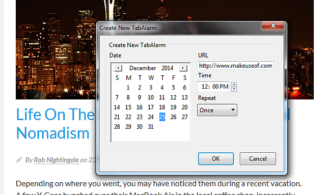 Snooze Tabs on Firefox Create New TabAlarm