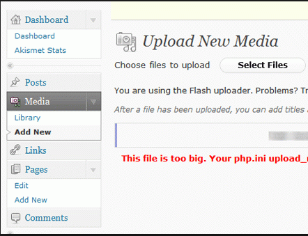 upload max filesize wordpress