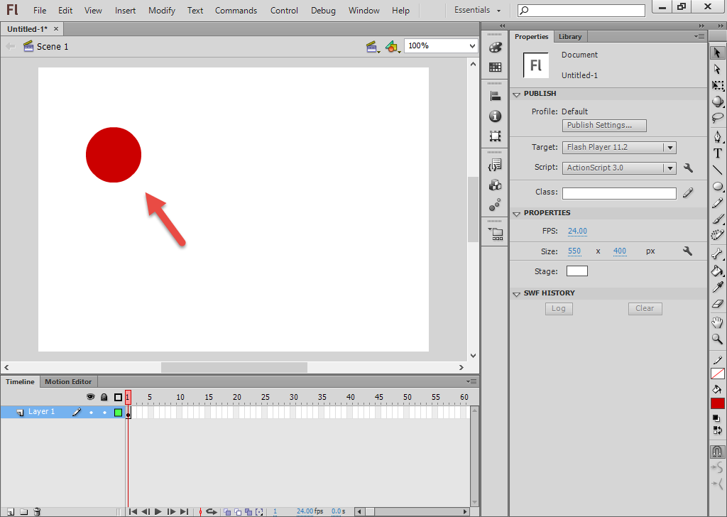 Shape Tween ها در Adobe Flash 1