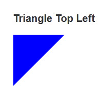 Triangle Top Left