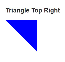 Triangle Top Right